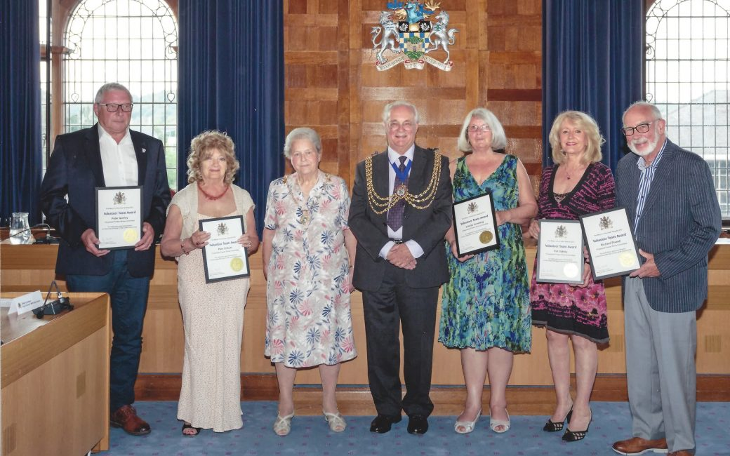 Chipstead Fair and Flower Show Committee wins Reigate and Bandstead Mayor's Volunteer Team Award.