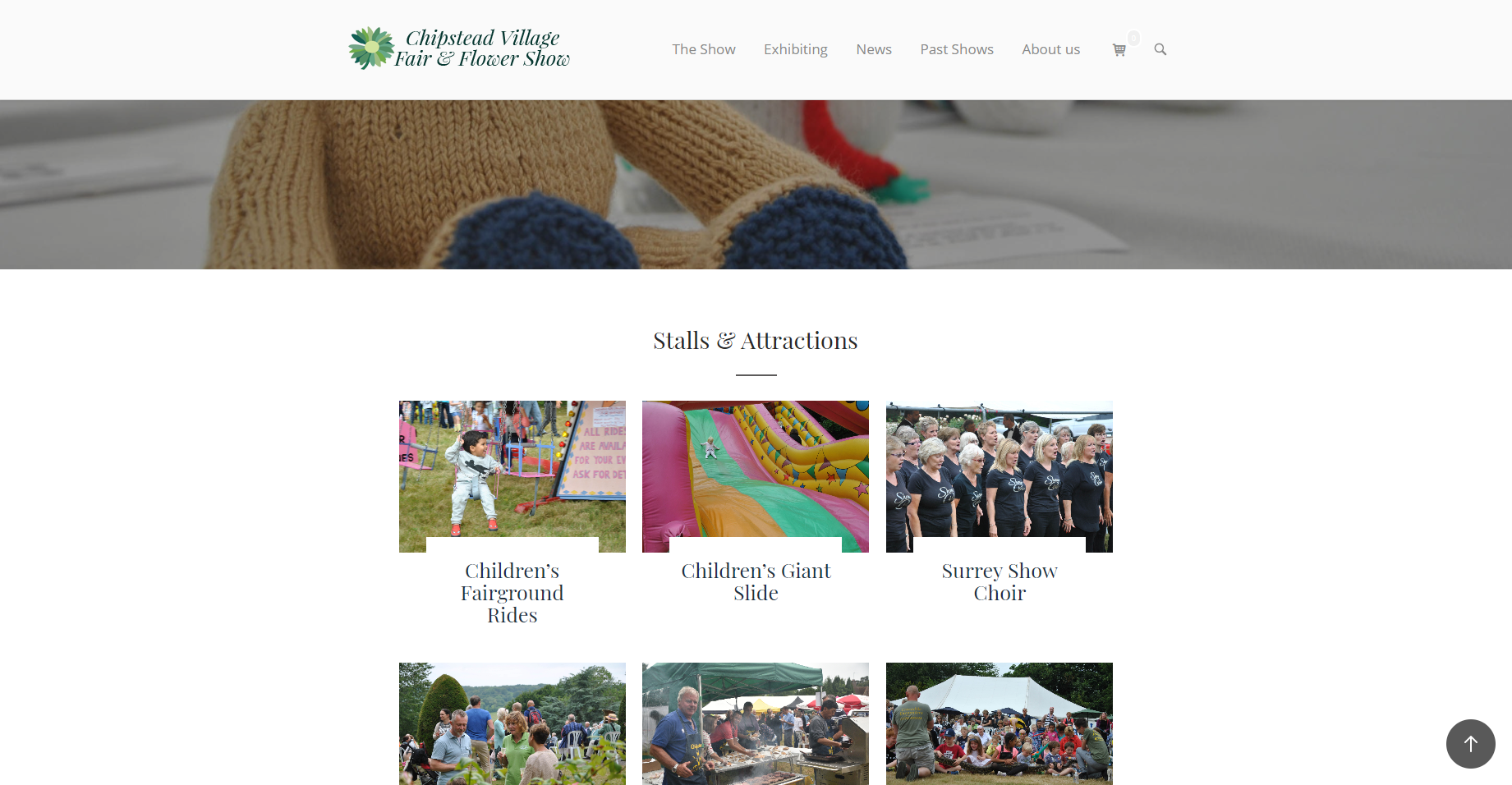 The Chipstead Village Fair & Flower Show website front page.